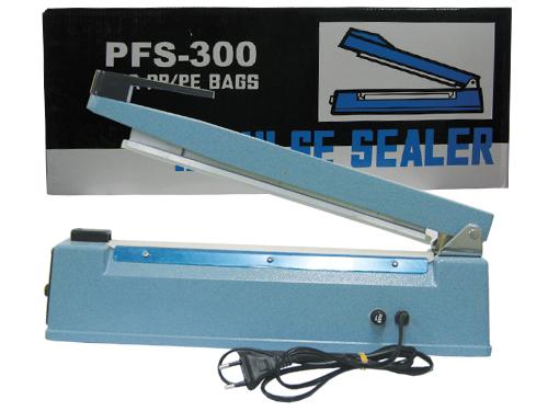 เครื่องซีลปากถุง ขนาด 12 นิ้ว PFS-300 บอดี้เหล็กแข็งแรง ขนาดเส้นกด 8 mm