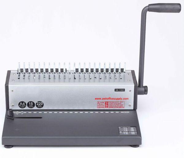 เครื่องเข้าเล่มสันห่วงกระดูกงู รุ่น SD-1501