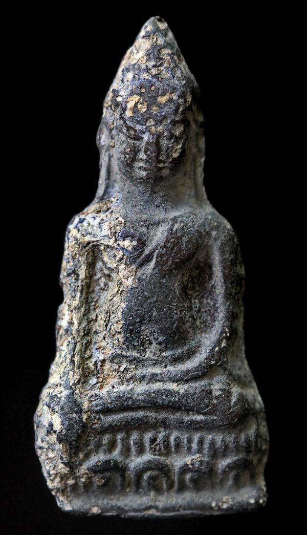 พระหูยานหน้ายักษ์ เนื้อชินเงิน กรุวัดพระศรีรัตนมหาธาตุ ลพบุรี No.121