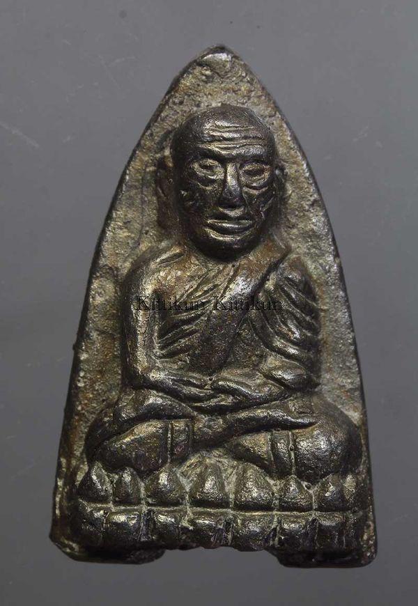พระหลวงปู่ทวดหลังเตารีดปี 2505 พิมพ์ใหญ่ A เนื้อแร่ No.268