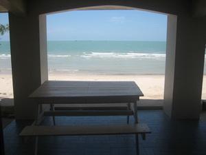 ภาพถ่ายจากในบ้าน  มองไปทะเล