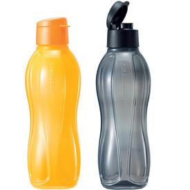 ขวดน้ำ eco flip top 1 ลิตร (2) สีเหลือง/สีเทา