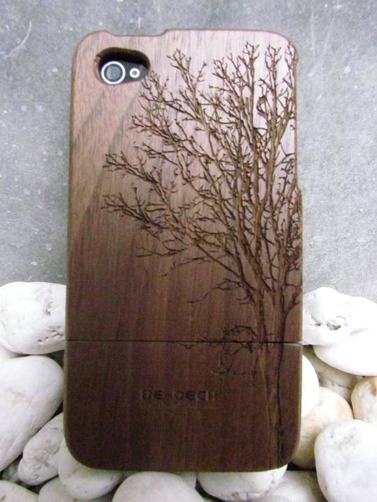 Walnut Graphic Wooden Iphone4 Case