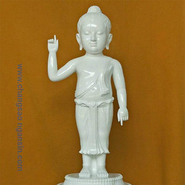 พระพุทธรูป(แกะสลักหินขาว)ปางประสูตร