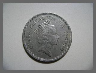 เหรียญ 1Dollar Hong kong ปี1990 (เหรียญหายาก)