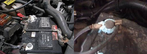ทำความสะอาดแบตเตอรี่รถยนต์