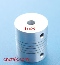 Flexible  Coupling 6.35 x 8 mm.(25x30 mm.)