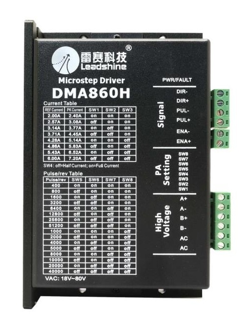 LEADSHINE STEPPER DRIVER DMA860H 6.0A.