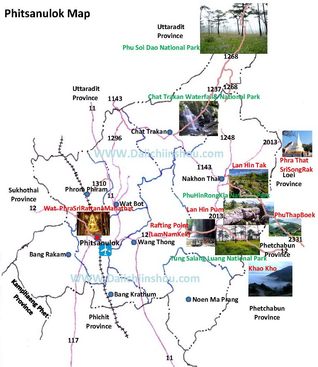 Phitsanulok Thailand Map.Pics Photos Travel Map Nan Province Thailand Citiestips Com