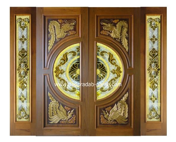 ประตูกระจกนิรภัย+บานฟิกซ์ข้าง