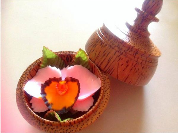 Thai Hand-Carved Soap Flower.-