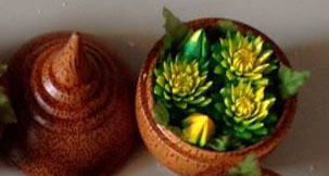 Thai Hand-Carved Soap Flower.--