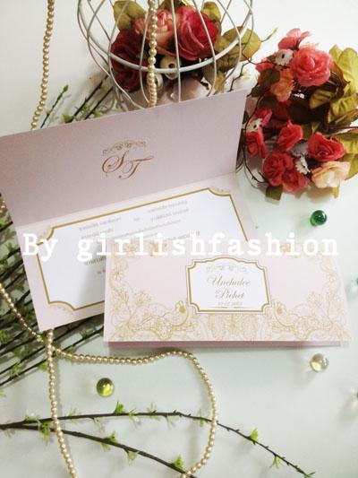 การ์ดพับ: การ์ดแต่งงานพับ Elegant Romantica Wedding Cards :การ์ดแต่งงานพับลายลูกไม้สีเบจ NUDE คลาสสิก