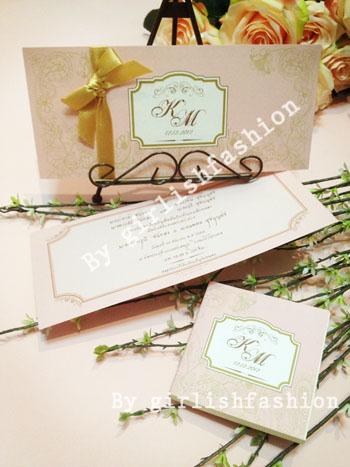 การ์ด: การ์ดแต่งงาน Elegant Romantica Wedding Cards :การ์ดแต่งงานลายลูกไม้สีชมพูคลาสสิก