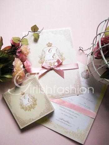 การ์ดแต่งงานเทียร่าสีเบจ  Elegant Of Glamour