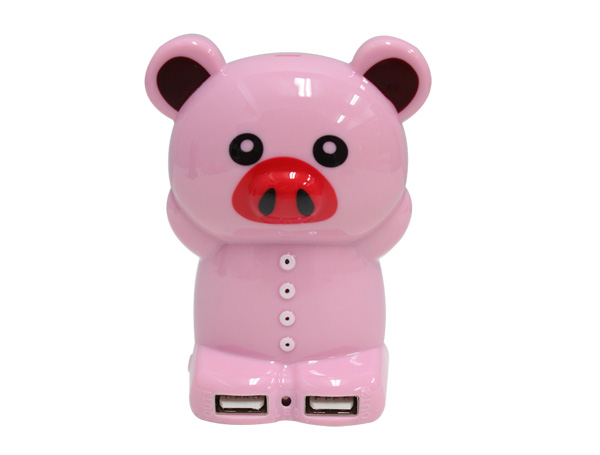 PowerBank หมีชมพู 5200