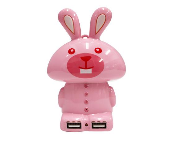 PowerBank กระต่ายชมพู 5200