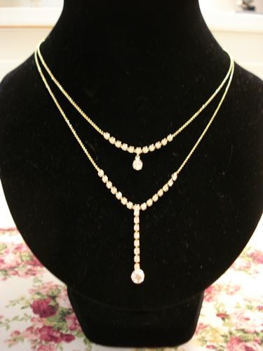 สร้อยเพชร 2 ระดับ Double Layers of Diamonds Necklace