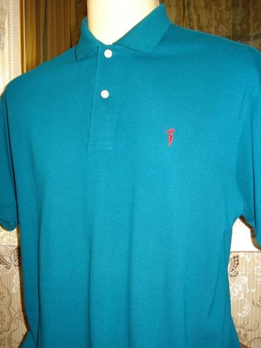 บอสสินี่ เสื้อคอโปโลสีเขียว / Green Collar Polo-shirt size XL