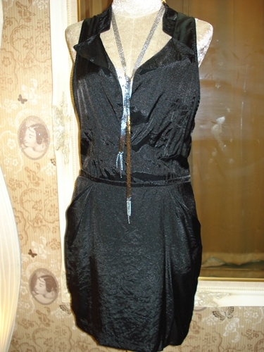 มาร์ค จาคอบส์ เดรสสีดำแบบเก๋ Posh Black Shirt Dress size M