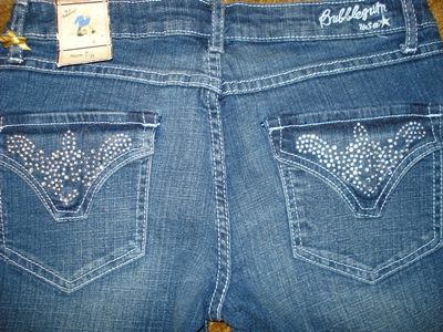 บับเบิ้ลกัม กางเกงยีนส์ขายาวทรงกระบอก Bubblegum American Flavour Stud Jeans