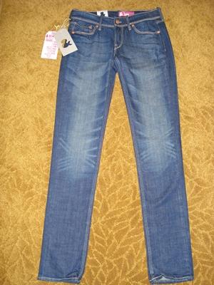 เอชแอนด์เอ็ม ยีนส์ขาเดฟสีเข้ม ขยุ้มหน้าขาฟอกซีด เพิ่มความชิค / Fit Sqin -Leg Slim -Waist Low Denim Jeans  size 26