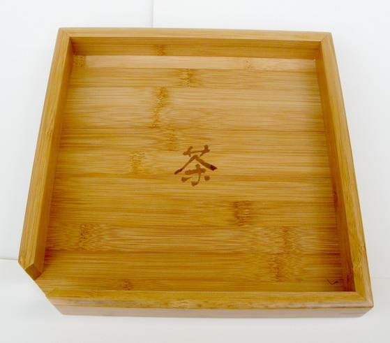 Bamboo tea plate