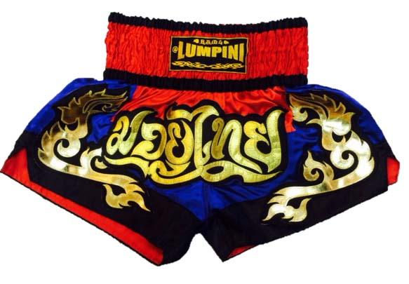 Muay Thai short red,blue,black letters Mauy Thai in Thai