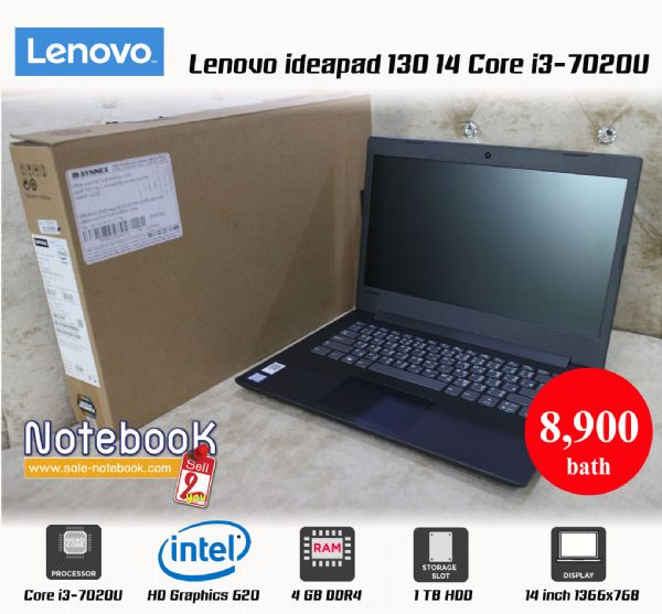 Lenovo ideapad 130 14 Core i3-7020U HD Graphics 620
