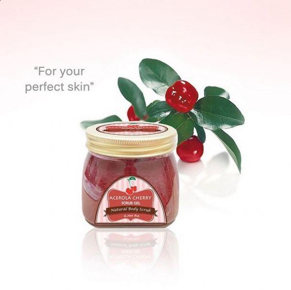 Acerola cherry scrub gel