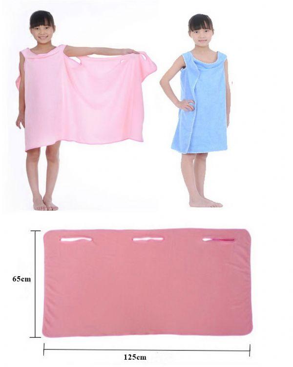 ของใช้ประจำวัน : 2-in-1 ผ้าเช็ดตัว/ชุดคลุมอาบบน้ำ (สำหรับเด็ก)