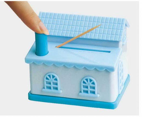 ของใช้ในบ้าน : กล่องทรงบ้านเก็บไม้จิ้มฟัน