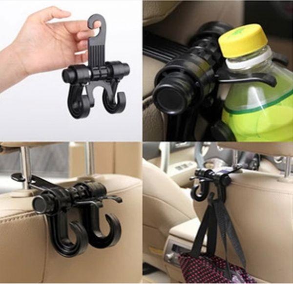 ของใช้ในรถ : 2-in-1 คะขอแขวนสิ่งของและขวดน้ำในรถยนต์