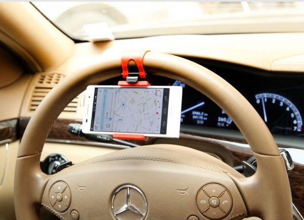 ของใช้ในรถ : ตัวจับมือถือ/gps ยึดกับพวงมาลัยรถ