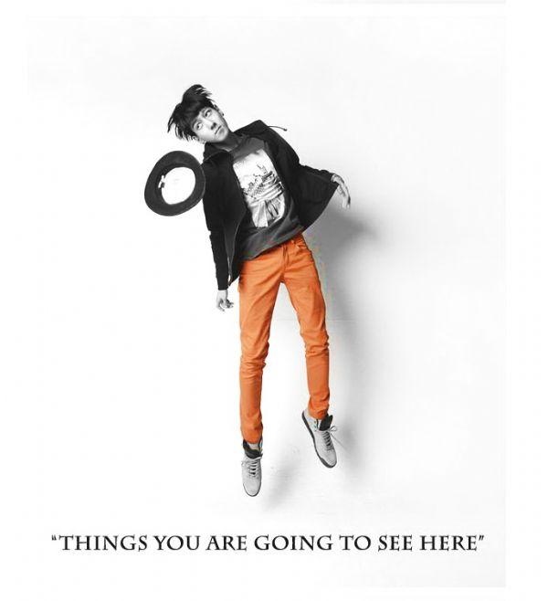 เสื้อผ้าผู้ชาย: กางเกง so orange!