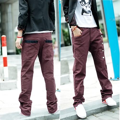 เสื้อผ้าผู้ชาย: กางเกง dazzling casual
