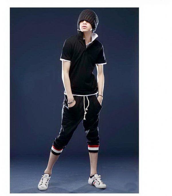 เสื้อผ้าผู้ชาย : Polo ปก 2 ชั้น แต่งเชิง 2 สี