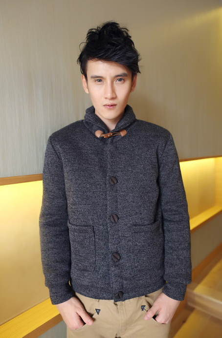 เสื้อกันหนาวผู้ชายพร้อมส่ง : แจ๊คเก็ต wool -retro style