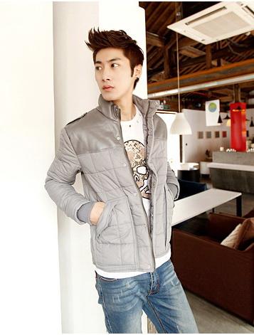 เสื้อกันหนาวผู้ชายพร้อมส่ง : แจ๊คเก็ต slim cotton-padded
