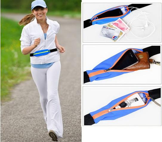 เสื้อผ้าผู้ชายพร้อมส่ง : sport pocket กระเป๋าคาดเอวสำหรับเล่นก๊ฬา (แบบกระเป๋าเดียว)