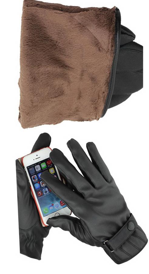 เสื้อผ้าผู้ชาย : ถุงมือหนัง touch screen