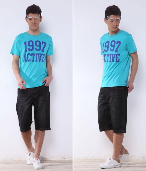 กางเกงยีนส์สองส่วนสีดำ casual