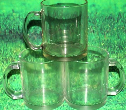 แก้วสกรีน แก้ว MUG สีใส (พร้อมกล่อง)