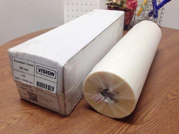 ฟิล์มเคลือบม้วนพรีเมี่ยม/ฟิล์มเคลือบยูวี vision 30 ไมครอน (ชนิดมัน)ได้รับ ISO 9001:14000
