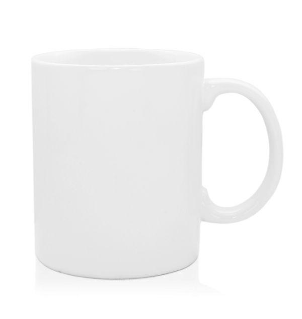 แก้วเซรามิค ทรงกระบอก สีขาวมัน