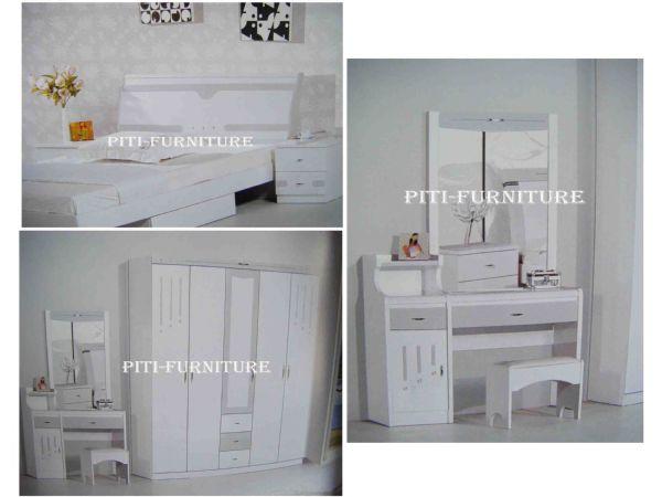 ชุดห้องนอนลายขาวเทา