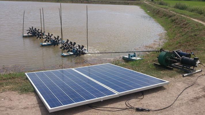 เครื่องหมุนเยียนน้ำบ่อขนาดใหญ่ ใช้ได้ตลอดวันไม่ต้องจ่ายไฟฟ้า