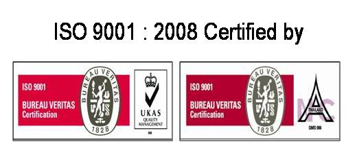 ISO 9001:2008 certified by Bureau Veritas