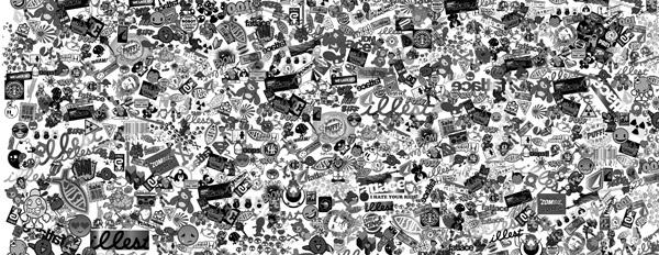 สติกเกอร์บอมบ์ ลายฟลัช sticker bomb sticker flush style