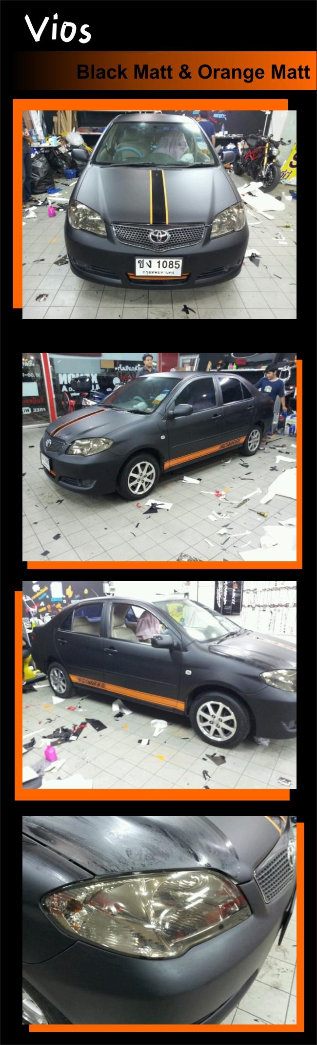 wrap car ฟิล์มหุ้มเปลี่ยนสีรถ เปลี่ยนสีรถทั้งคันด้วยสติกเกอร์ wrapเปลี่ยนสีรถ เปลี่ยนสีรถดำด้าน